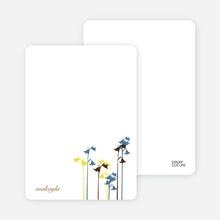 Wild Flowers: Personal Stationery - Cadet Blue