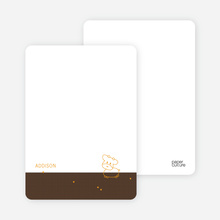 Year of the Ox Baby Announcement: Personal Stationery - Espresso