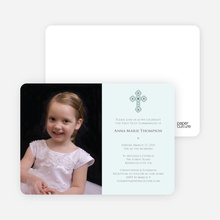 Photo Card Holy Communion Invite - Pale Mint