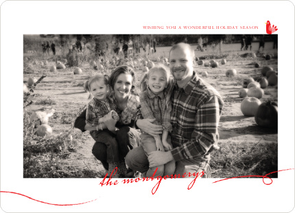 Photo Frame Holiday Photo Cards - Tomato Red