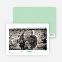 Photo Frame Holiday Photo Cards - Emerald Green
