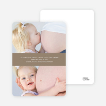 Photo Sandwich Pregnancy Cards - Coffee Donut