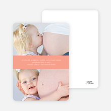 Photo Sandwich Pregnancy Cards - Peach Paper