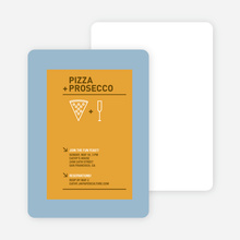 Pizza and Prosecco Party Invitations - Pumpkin