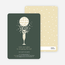 Pop the Champagne New Year's Party Invitations - Forest Green