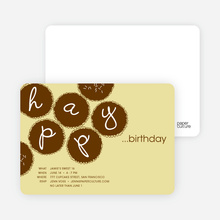 Premium Cupcakes Galore Birthday Invitations - Light Goldenrod