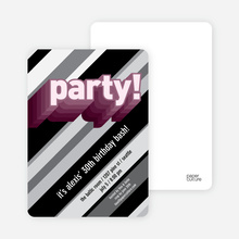 Psychedelic Party Invitations - Pink Party