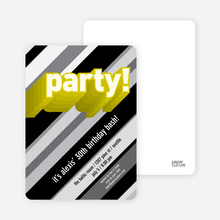 Psychedelic Party Invitations - Lemon Vanilla
