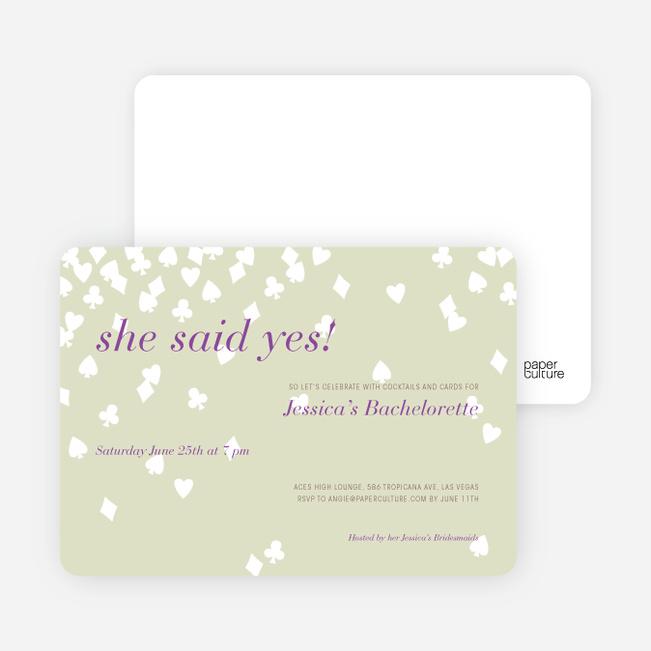 Queen of Hearts Bridal Shower Invitations - Mojito Cash