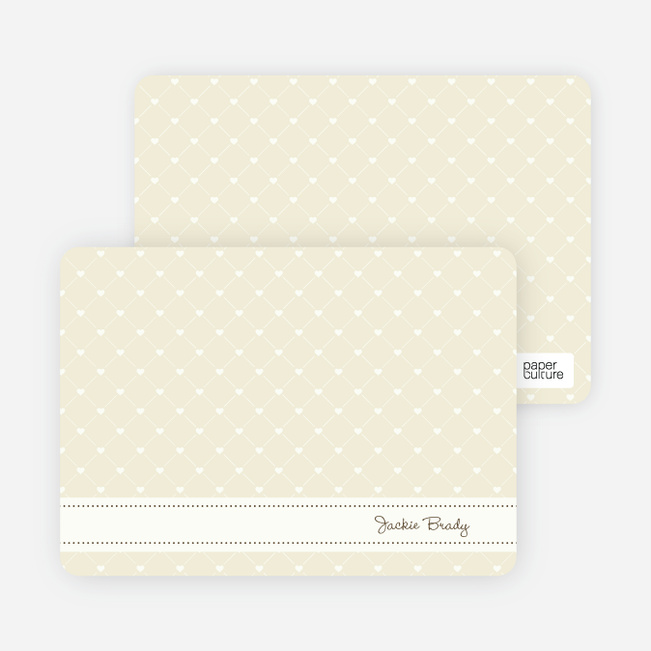 Quilted Love Birth Announcements - Walnut