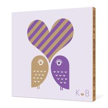 Owls in Love - Grape