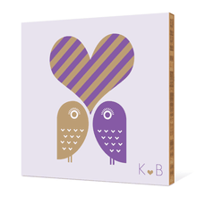 Owls in Love - Grape