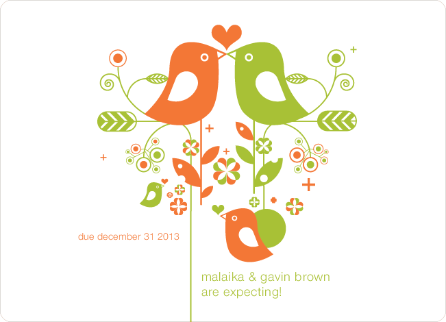 Lovebirds Pregnancy Announcements - Sweet Potato