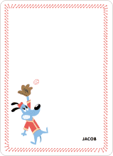 Babe Woof: Baseball Themed Stationery - Red Shirt