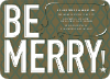 Be Merry! Holiday Invitations - Khaki