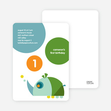 Rhino Modern Birthday Party Invitation - Dream Green