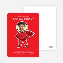 Righteous Hero Birthday Invitations - Candy Apple Red