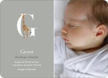 Animal Monogram Series Letter G: Giraffe - Warm Gray