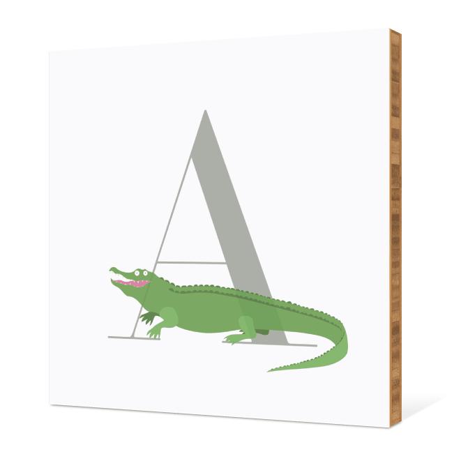 A Alligator Monogram Bamboo Art - Warm Gray