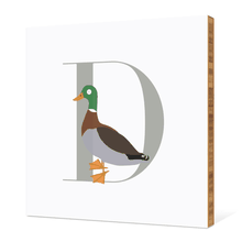 Alphabet Animals D Duck - Warm Gray