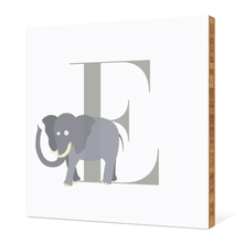 Alphabet Animals E Elephant - Warm Gray