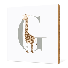 Alphabet Animals G Giraffe - Warm Gray