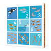 Counting Sea Creatures Wall Art - Multi