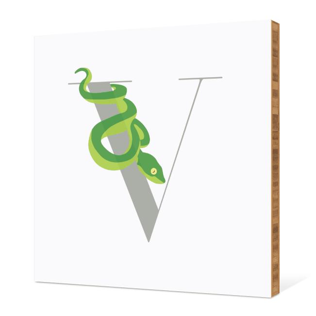 V Viper Monogram Bamboo Art - Warm Gray