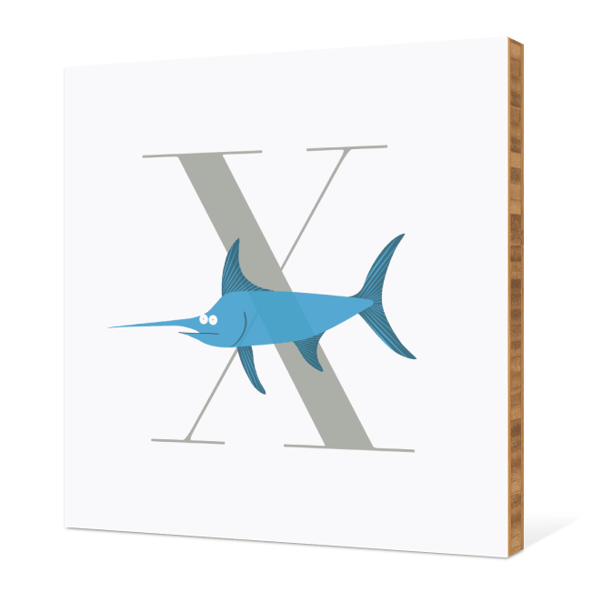 X Xwing Monogram Bamboo Art - Warm Gray