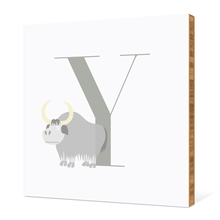 Alphabet Animals Y Yak - Warm Gray