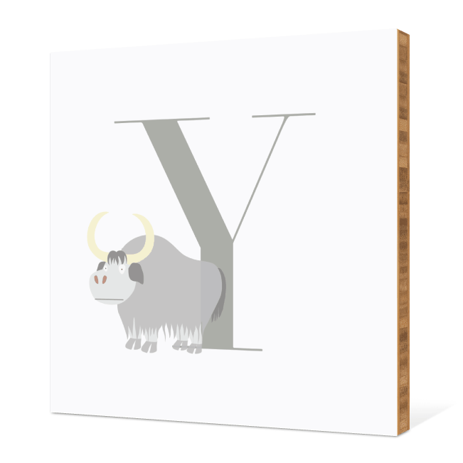 Y Yak Monogram Bamboo Art - Warm Gray