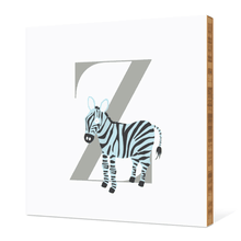Alphabet Animals Z Zebra - Warm Gray