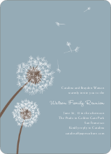 Dandelion Party Invitations - Mystic Blue