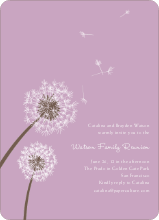 Dandelion Party Invitations - Lavender