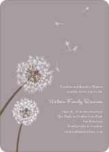 Dandelion Party Invitations - Mauve