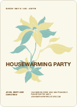 Flower Themed Housewarming Party - Buttercup