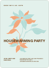 Flower Themed Housewarming Party - Persimmon