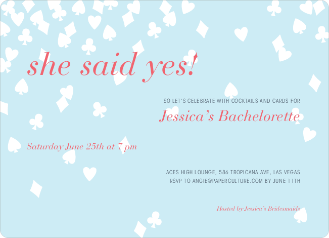 Queen of Hearts Bridal Shower Invitations - Mountain Rain