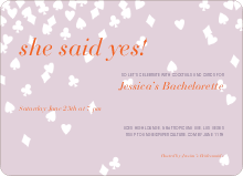 Queen of Hearts Bridal Shower Invitations - Raspberry Cream