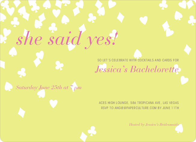Queen of Hearts Bridal Shower Invitations - Sun Dress