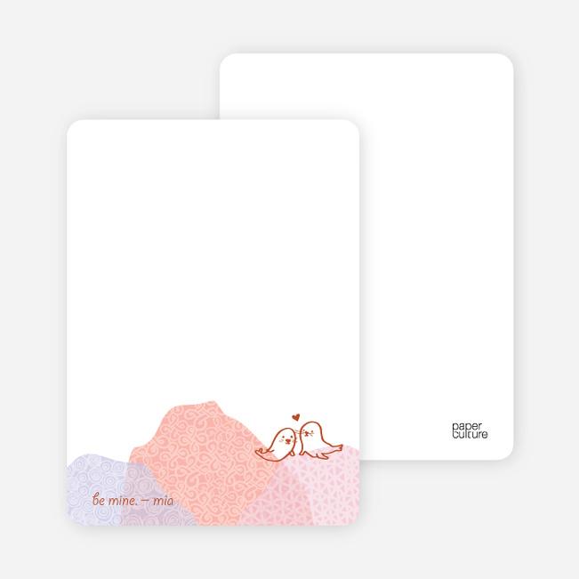 Seal Love Valentine's Day Cards - Almond