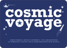 Cosmic Space Voyage - Purplish Blue