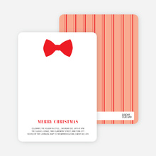 Serious Bowtie Holiday Invitations - Tomato Red