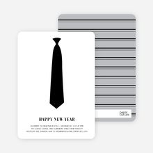 Serious Tie Holiday Invitations - Ebony