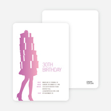 Shopaholic Birthday Invitation - Orchid
