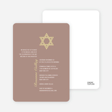 Simple Star of David Invites - Beige