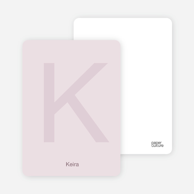 Simply Letters Personalized Note Cards - Blush