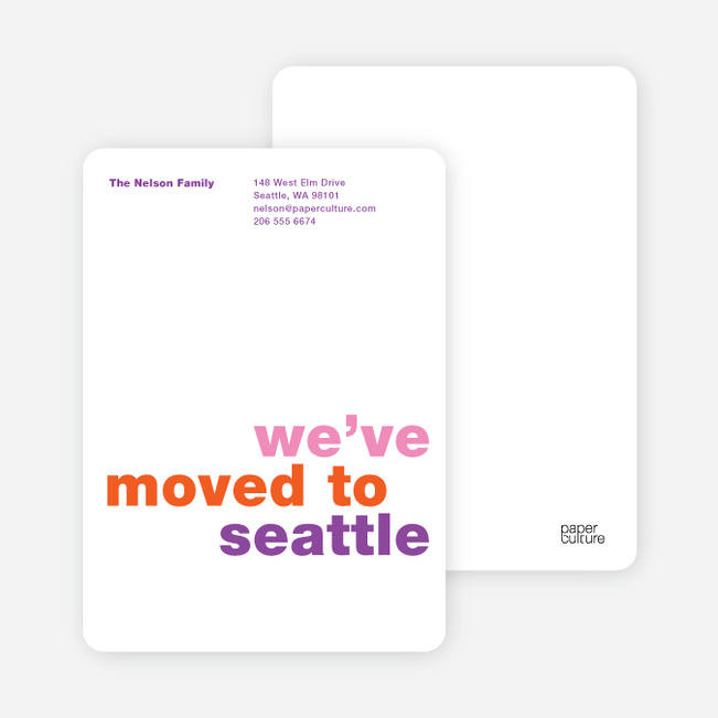Simply Text Minimalist Moving Announcements - Grape Juice