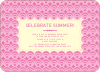 Bright and Bold Summer Celebration Invitations - Fuschia