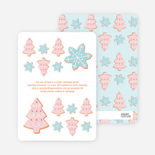 Snowflake Cookie Holiday Invitation - Powder Blue